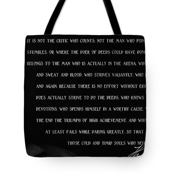 The Man In The Arena - Teddy Roosevelt 1910 Tote Bag