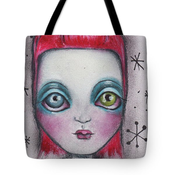 The Man Who Fell To Earth Tote Bag by Abril Andrade Griffith