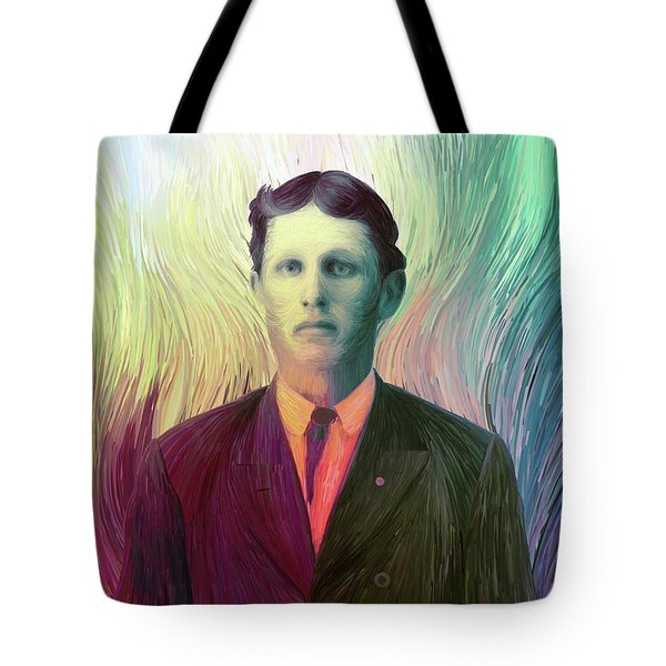 The Man With The Eyes Tote Bag by Matt Lindley