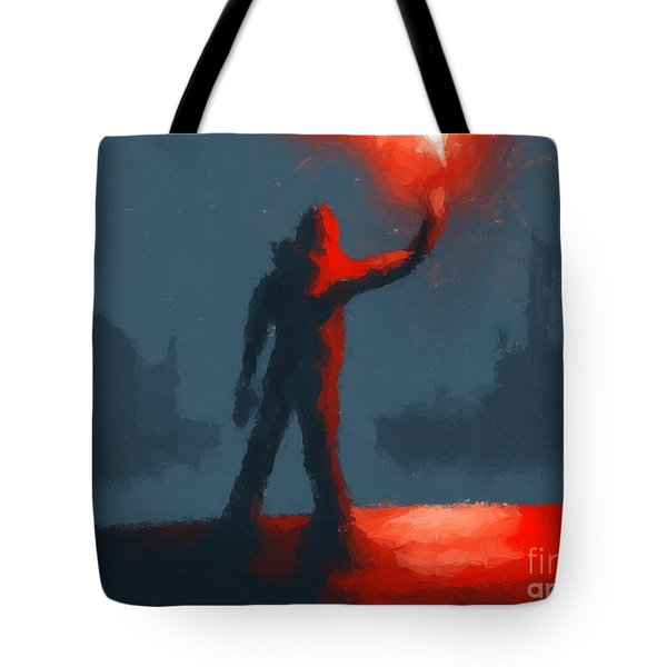 The Man With The Flare Tote Bag by Pixel  Chimp
