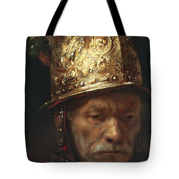 The Man With The Golden Helmet Tote Bag
