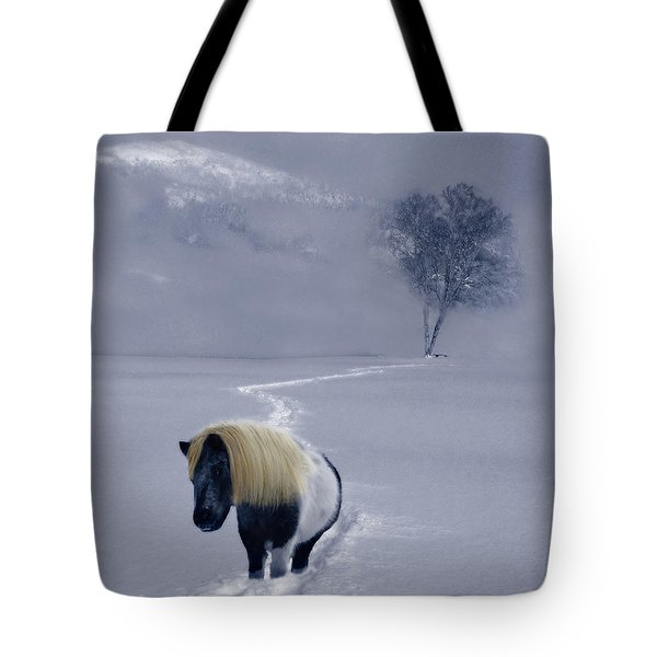 The Mane And The Mountain Tote Bag by Wayne King