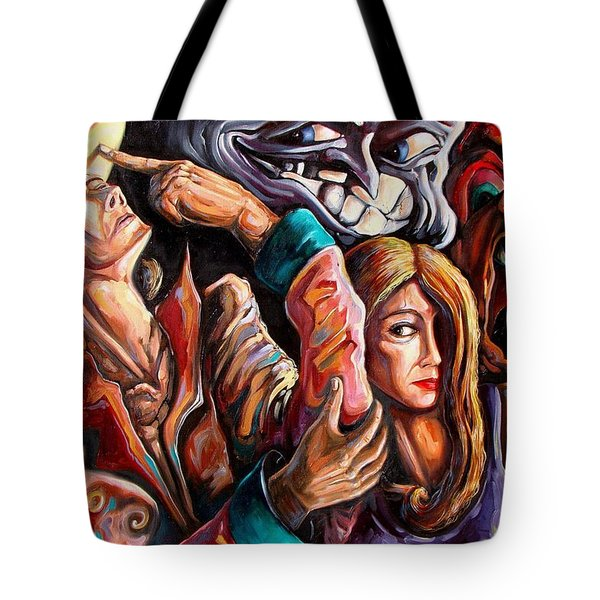 The Manipulation From The Anti-consciousness Monsters Tote Bag by Darwin Leon