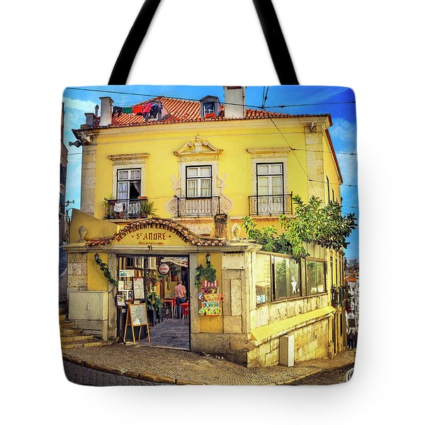 Tote Bag featuring the photograph The Many Colors Of Lisbon Old Town  by Carol Japp
