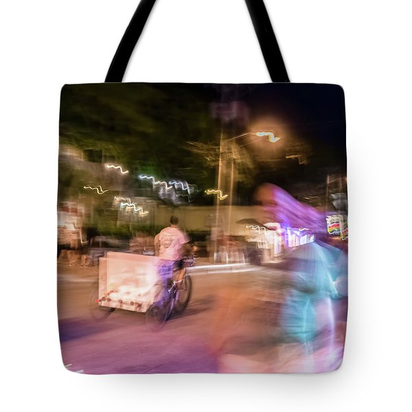 The Many Moods Of Duval Street Tote Bag