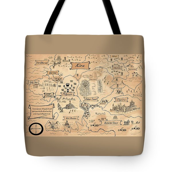 The Map Of The Enchanted Kira Tote Bag
