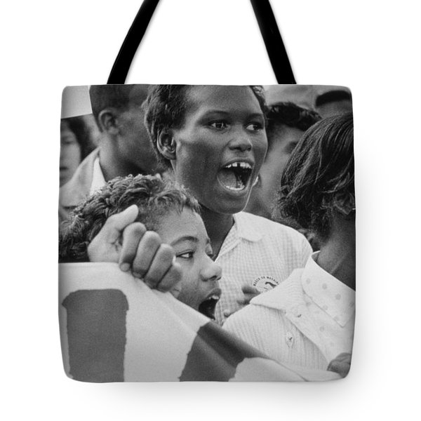The March On Washington   A Group From Detroit Tote Bag