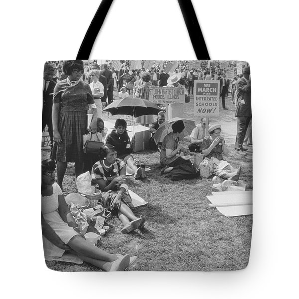 The March On Washington   At Washington Monument Grounds Tote Bag