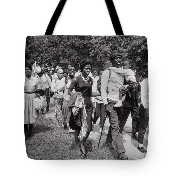 The March On Washington  Freedom Walkers Tote Bag