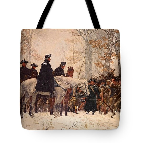 The March To Valley Forge Tote Bag
