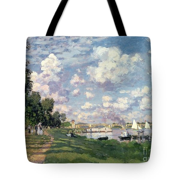 The Marina At Argenteuil Tote Bag by Claude Monet