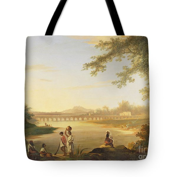 The Marmalong Bridge Tote Bag by William Hodges