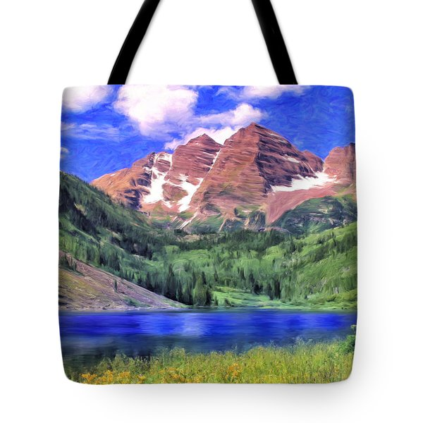 The Maroon Bells Tote Bag