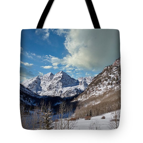 The Maroon Bells Twin Peaks Just Outside Aspen Tote Bag