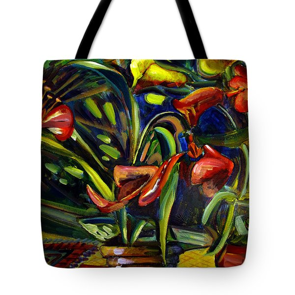 Tote Bag featuring the painting The Marriage Of Figaro Floral Aria by Charlie Spear