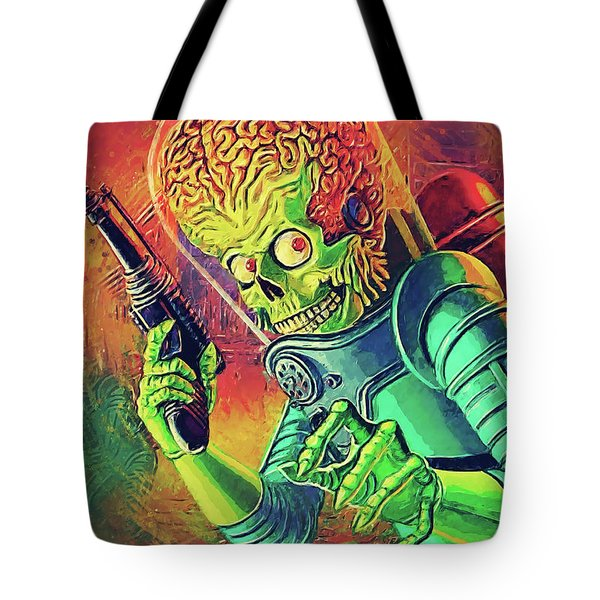 The Martian - Mars Attacks Tote Bag by Taylan Apukovska