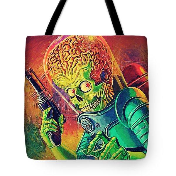 The Martian - Mars Attacks Tote Bag by Taylan Apukovska