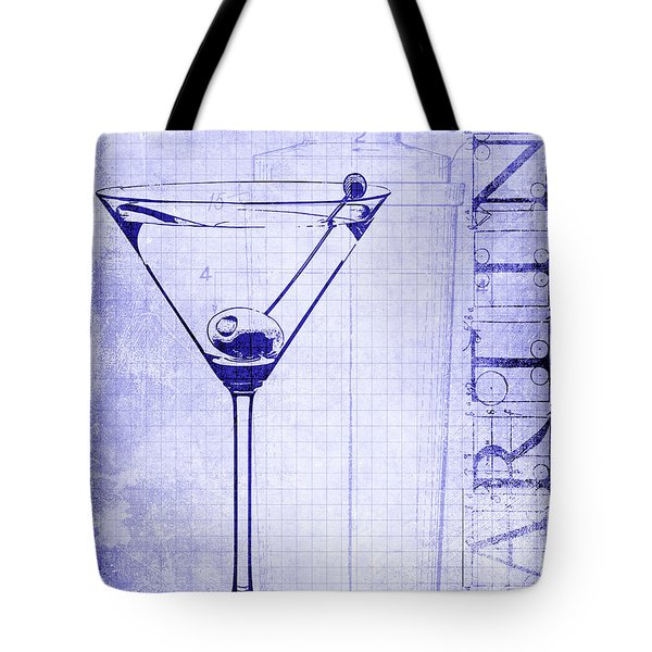 The Martini Blueprint Tote Bag