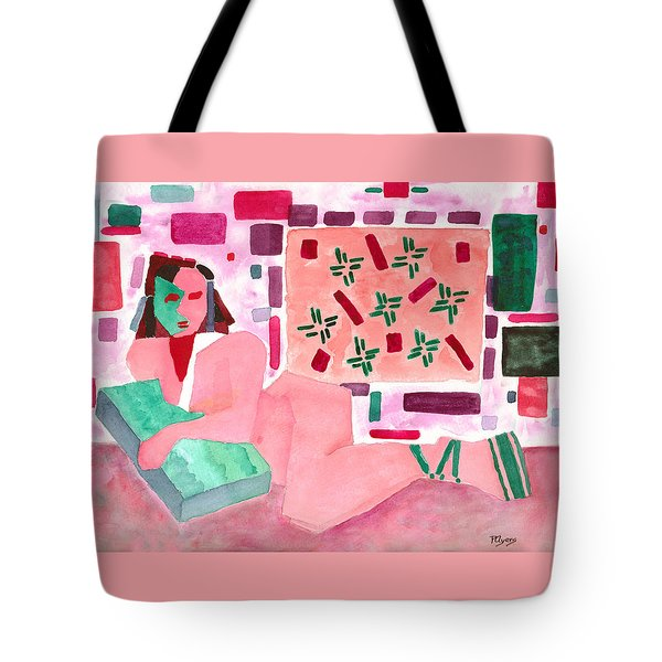Tote Bag featuring the painting The Mask by Paula Ayers