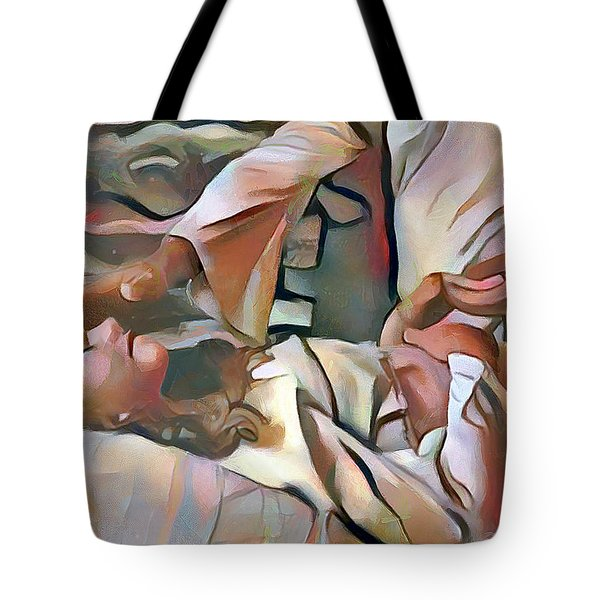 The Master's Hands - Healer Tote Bag by Wayne Pascall