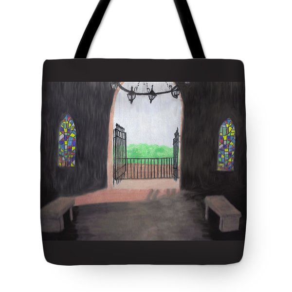 The Mausoleum Tote Bag by Jean Haynes