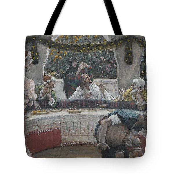 The Meal In The House Of The Pharisee Tote Bag by Tissot