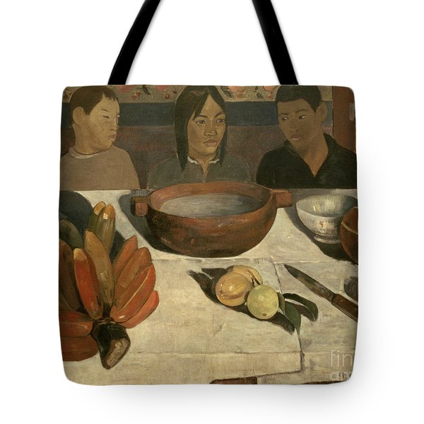 The Meal Tote Bag by Paul Gauguin
