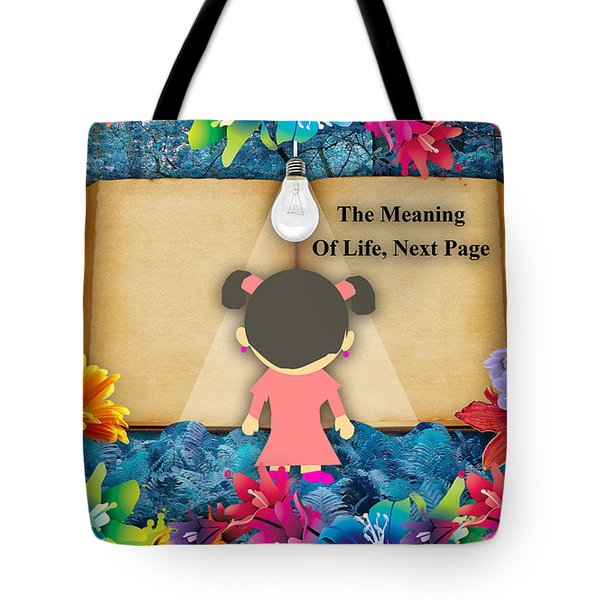 The Meaning Of Life Art Tote Bag