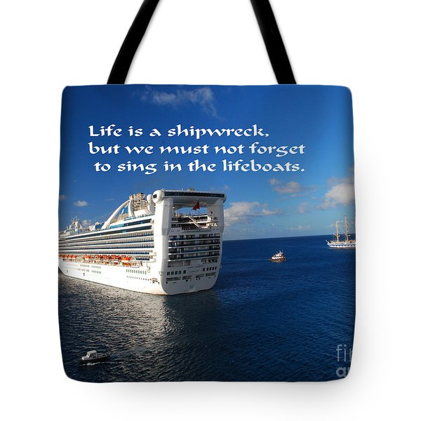 The Meaning Of Life Tote Bag by Gary Wonning