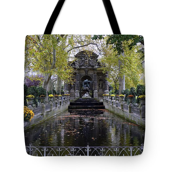 The Medici Fountain At The Jardin Du Luxembourg In Paris France. Tote Bag