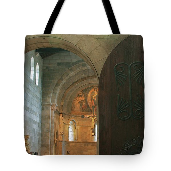 An Early Morning At The Medieval Abbey Tote Bag