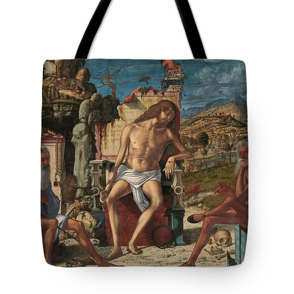 The Meditation On The Passion Tote Bag by Vittore Carpaccio