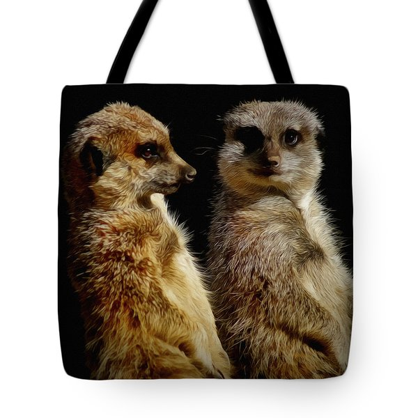 The Meerkats Tote Bag by Ernie Echols