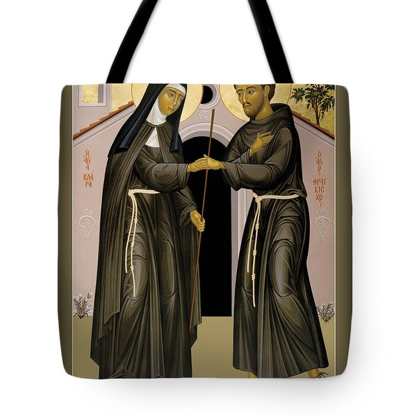 The Meeting Of Sts. Francis And Clare - Rlfac Tote Bag