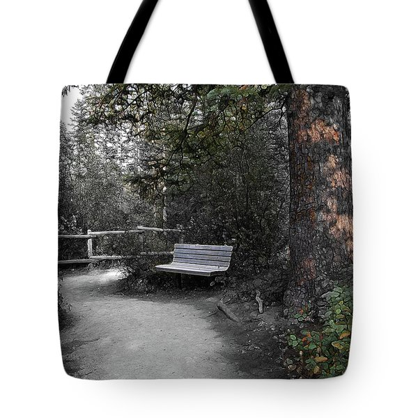 Tote Bag featuring the digital art The Meeting Place by Stuart Turnbull