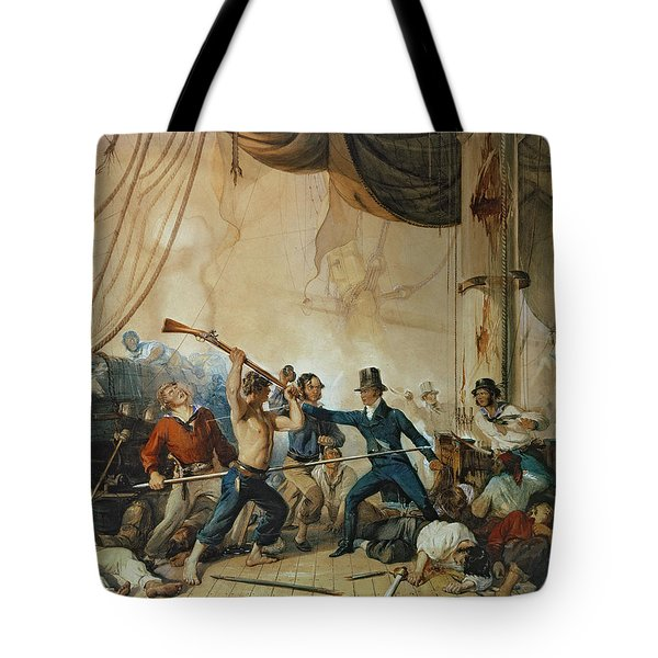 The Melee On Board The Chesapeake Tote Bag