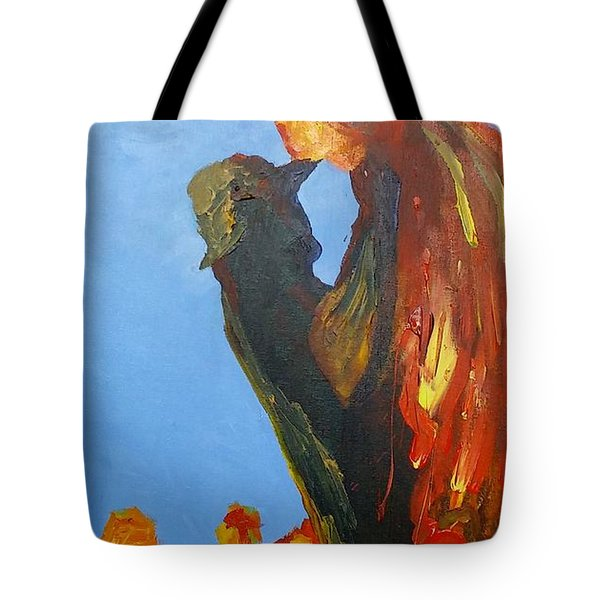 Tote Bag featuring the painting The Melting by Geeta Biswas