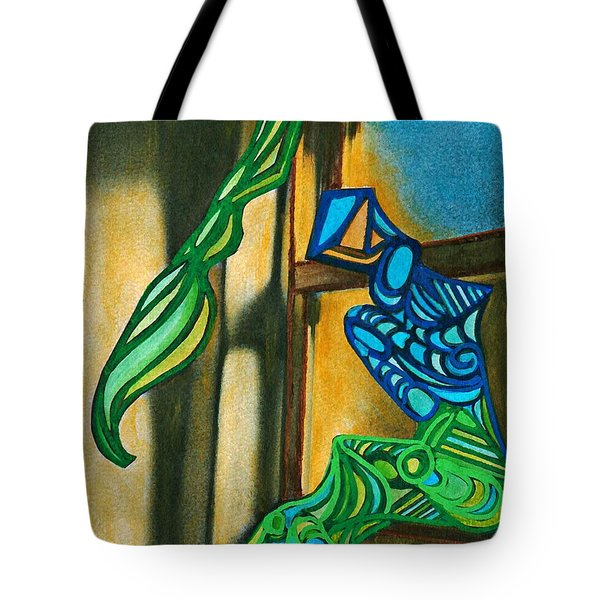 The Mermaid On The Window Sill Tote Bag by Sarah Loft