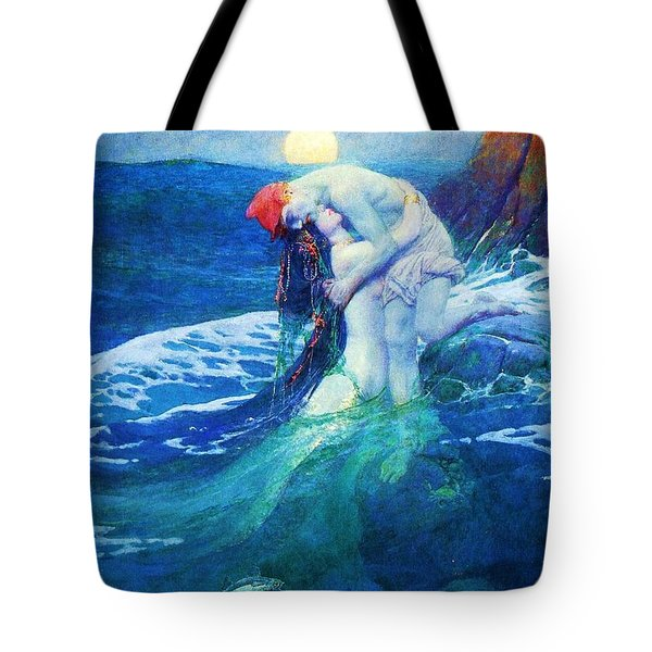The Mermaid Tote Bag by Pg Reproductions