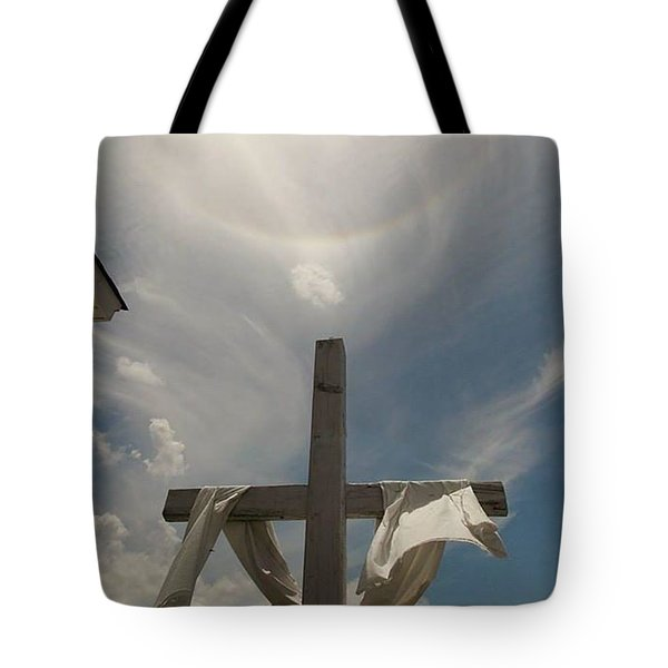 The Message Of The Cross Tote Bag