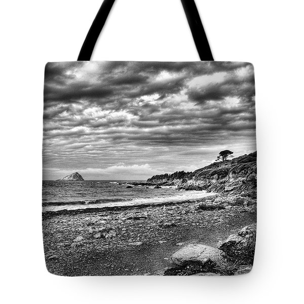 The Mewstone, Wembury Bay, Devon #view Tote Bag