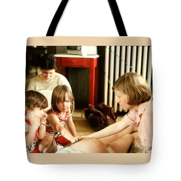The Midwife Explains Tote Bag