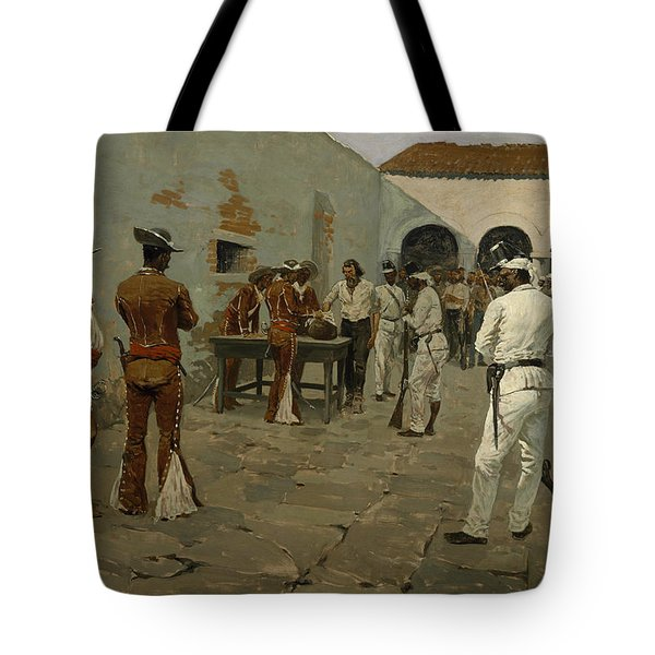The Mier Expedition The Drawing Of The Black Bean  Tote Bag