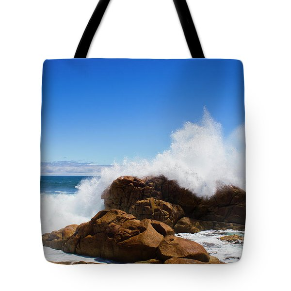 Tote Bag featuring the photograph The Might Of The Ocean by Jorgo Photography - Wall Art Gallery
