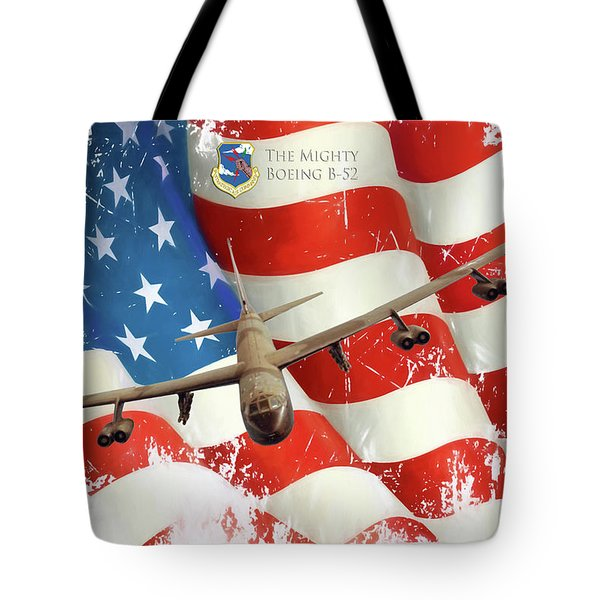 The Mighty B-52 Tote Bag by Peter Chilelli