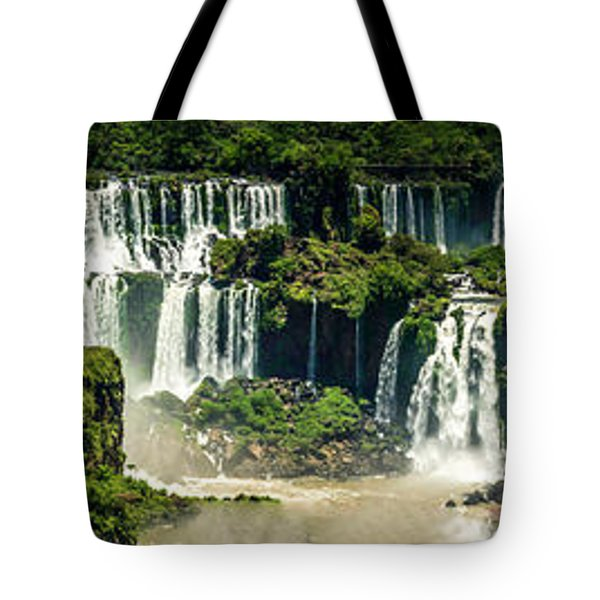 Tote Bag featuring the photograph The Mighty Iguazu  by Andrew Matwijec