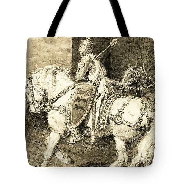 The Mighty King Of Chivalry  Richard The Lion Heart Tote Bag