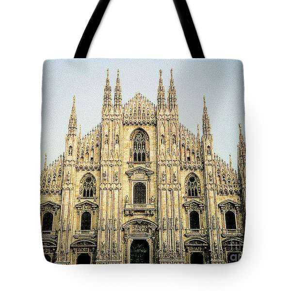 Tote Bag featuring the photograph The Milan Cathedral - Italy by Merton Allen