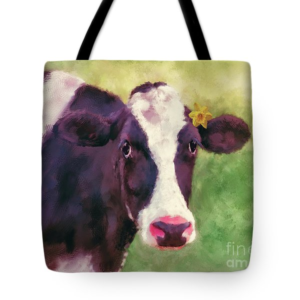 Tote Bag featuring the photograph The Milk Maid by Lois Bryan