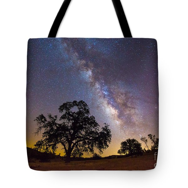 The Milky Way And Perseids Tote Bag